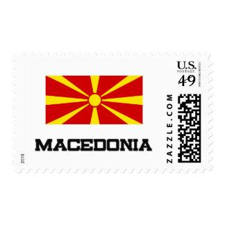 Bandera de Macedonia Timbre Postal