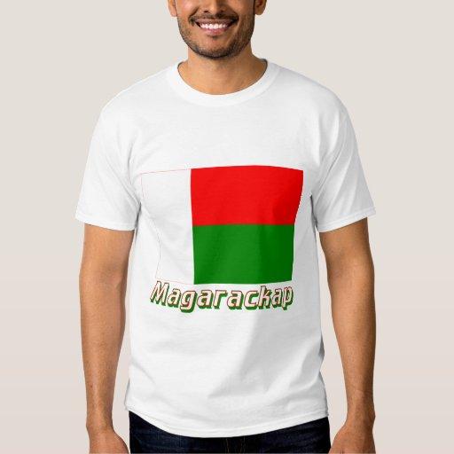 Bandera de Madagascar con nombre en ruso Poleras