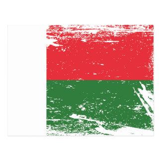Bandera de Madagascar del Grunge Postal