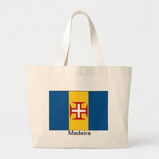 Bandera de Madeira Bolsa De Tela Grande