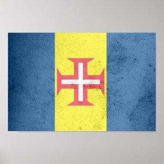 Bandera de Madeira Póster