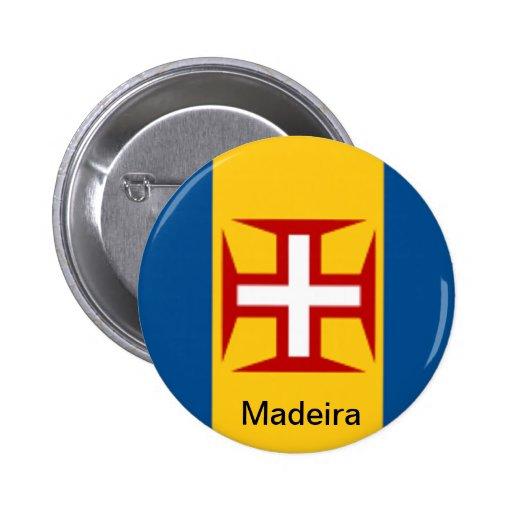 Bandera de Madeira Pin Redondo 5 Cm
