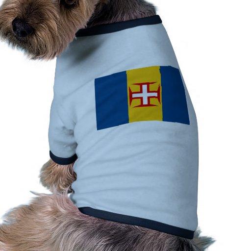 Bandera de Madeira (Portugal) Camiseta De Perro