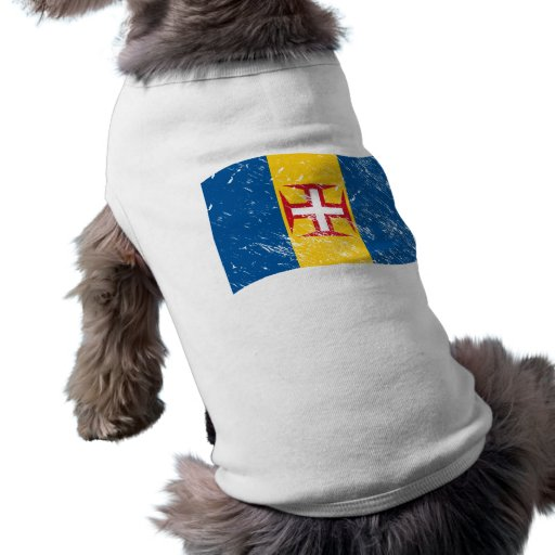 Bandera de Madeira Camiseta De Perro