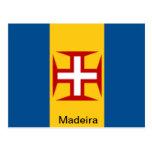 Bandera de Madeira Tarjeta Postal