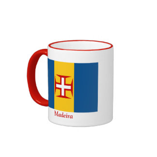Bandera de Madeira Taza A Dos Colores