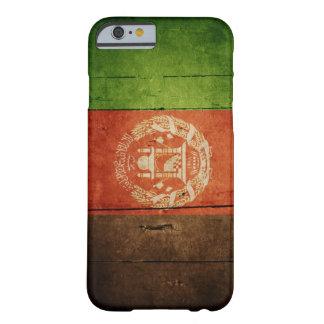 Bandera de madera de Afganistán; Afgano Funda De iPhone 6 Barely There
