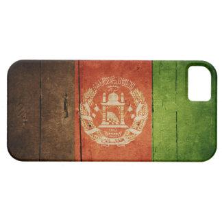 Bandera de madera de Afganistán; Afgano iPhone 5 Case-Mate Protectores