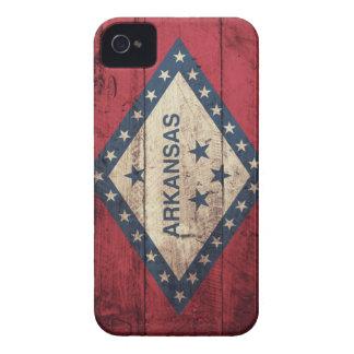 Bandera de madera de Arkansas iPhone 4 Protector