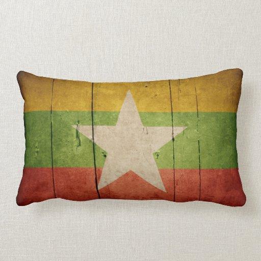 Bandera de madera de Birmania Almohada