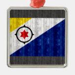 Bandera de madera de Bonairian Adorno De Navidad