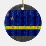 Bandera de madera de Curacaon Adorno De Reyes