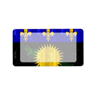 Bandera de madera de Guadeloupean Etiqueta De Dirección