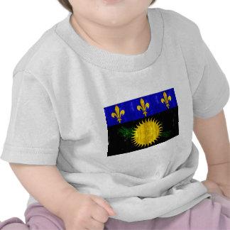 Bandera de madera de Guadeloupean Camisetas