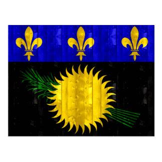 Bandera de madera de Guadeloupean Postal