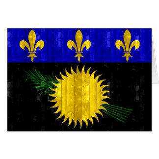 Bandera de madera de Guadeloupean Tarjeta