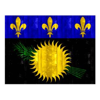 Bandera de madera de Guadeloupean Postales