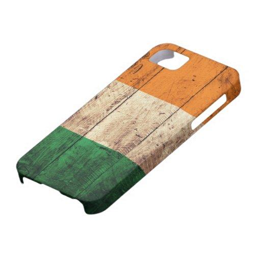 Bandera de madera de Irlanda iPhone 5 Case-Mate Cobertura