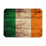 Bandera de madera de Irlanda Imanes Flexibles