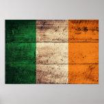Bandera de madera de Irlanda Posters
