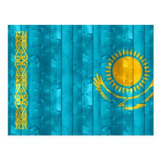 Bandera de madera de Kazakhstani Tarjetas Postales