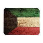 Bandera de madera de Kuwait Iman Rectangular