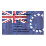 Bandera de madera de la isla de cocinero tarjetas de visita