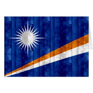 Bandera de madera de Marshallese Tarjeta De Felicitación