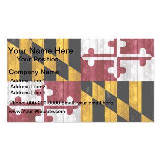 Bandera de madera de Marylander Plantillas De Tarjeta De Negocio