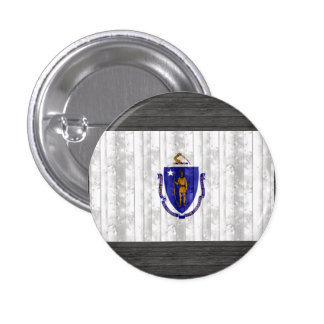 Bandera de madera de Massachusettsan Pin