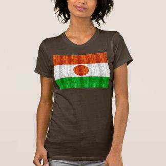 Bandera de madera de Nigerien Camiseta