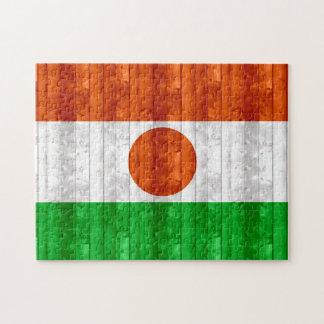 Bandera de madera de Nigerien Rompecabezas