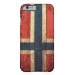 Bandera de madera de Noruega Funda De iPhone 6 Barely There