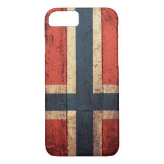 Bandera de madera de Noruega Funda iPhone 7