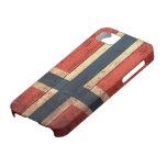 Bandera de madera de Noruega iPhone 5 Funda
