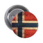 Bandera de madera de Noruega Pins