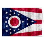 Bandera de madera de Ohioan Felicitaciones