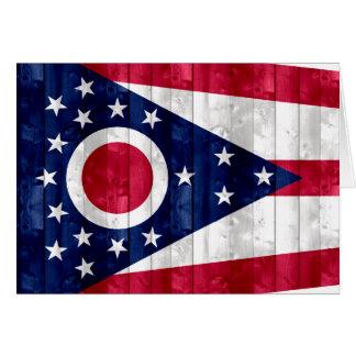 Bandera de madera de Ohioan Tarjeta De Felicitación