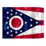 Bandera de madera de Ohioan Tarjeta Postal