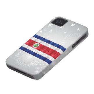 Bandera de madera de Rican de la costa iPhone 4 Case-Mate Protector