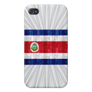 Bandera de madera de Rican de la costa iPhone 4 Carcasas
