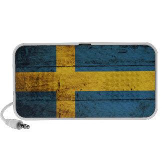 Bandera de madera de Suecia PC Altavoces
