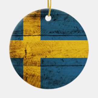 Bandera de madera de Suecia Adornos