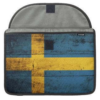 Bandera de madera de Suecia Funda Para Macbook Pro