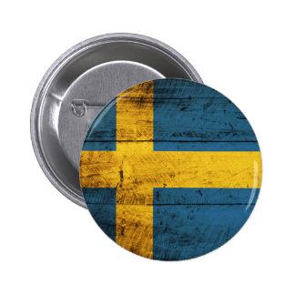 Bandera de madera de Suecia Pin