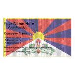 Bandera de madera de Tibetese Tarjeta De Negocio