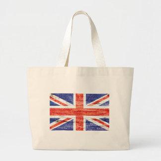 Bandera de madera de Union Jack Británicos (Reino  Bolsa Tela Grande