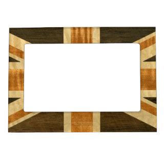 Bandera de madera de Union Jack Reino Unido Marcos Magnéticos