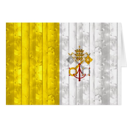 Bandera de madera de Vatican Felicitacion