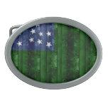 Bandera de madera de Vermont Hebilla De Cinturon